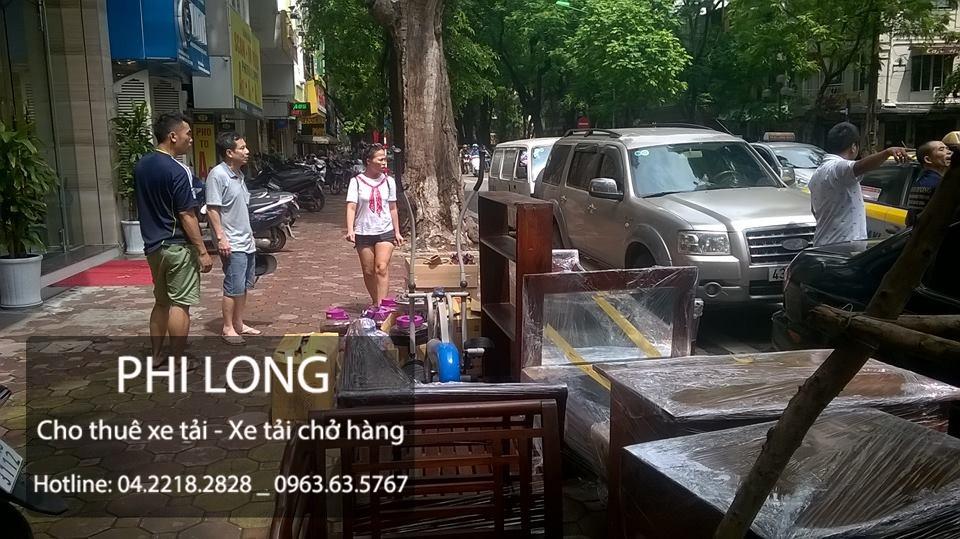 Phi Long cho thuê xe tải chở hàng tại phố Vũ Hữu