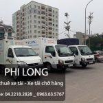 Xe tải chở hàng thuê tại phố Huỳnh Tấn Phát