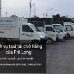Xe tải chở hàng thuê tại phố Phúc Hoa