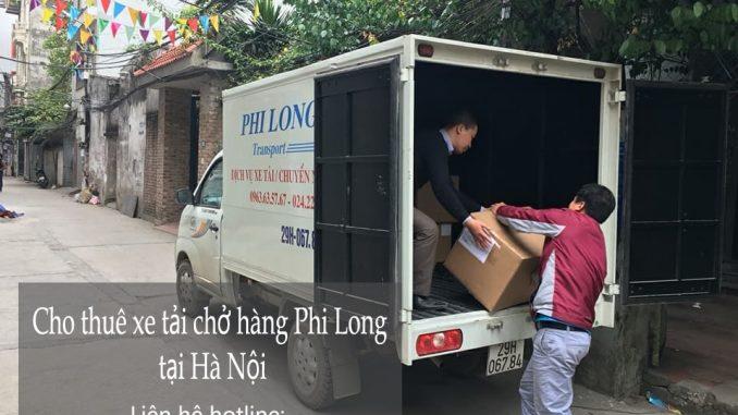 Xe tải chở hàng thuê tại phố Trần Khát Chân