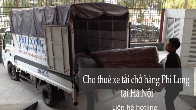 Xe tải chở hàng thuê tại phố Lương Ngọc Quyến