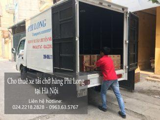 Xe tải chở hàng thuê tại phố Trung Kính