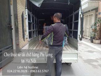 Xe tải chở hàng thuê tại phố Hồng Hà