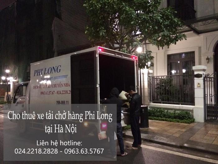 Xe tải chở hàng thuê tại phố Nguyễn Mậu Tài