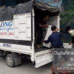 Xe tải chở hàng thuê tại phố Nguyễn Lam