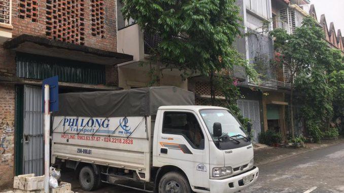 Xe tải chở hàng thuê tại phố Lê Quang Đạo