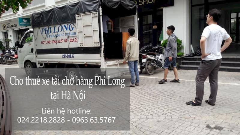 Xe tải chở hàng thuê tại phố Tân Nhuệ