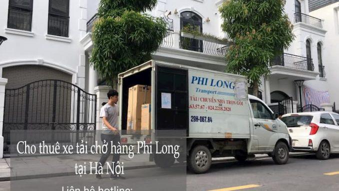 Xe tải chở hàng thuê Phi Long tại phố Phan Bá Vành