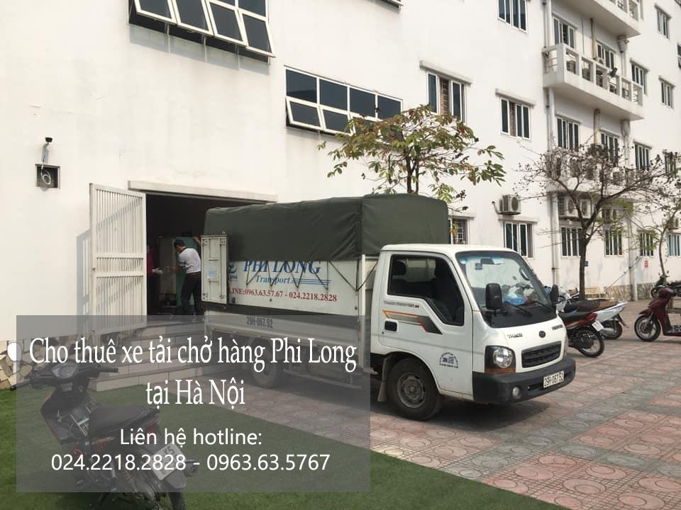 Xe tải chở hàng thuê Phi Long tại phố Đức Giang
