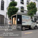 Xe tải chở hàng tại phường Thịnh Liệt