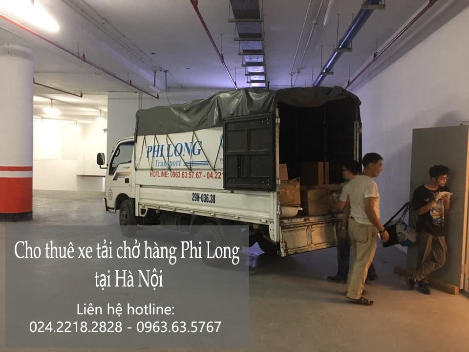 Xe tải chở hàng thuê Phi Long tại xã Đức Thượng
