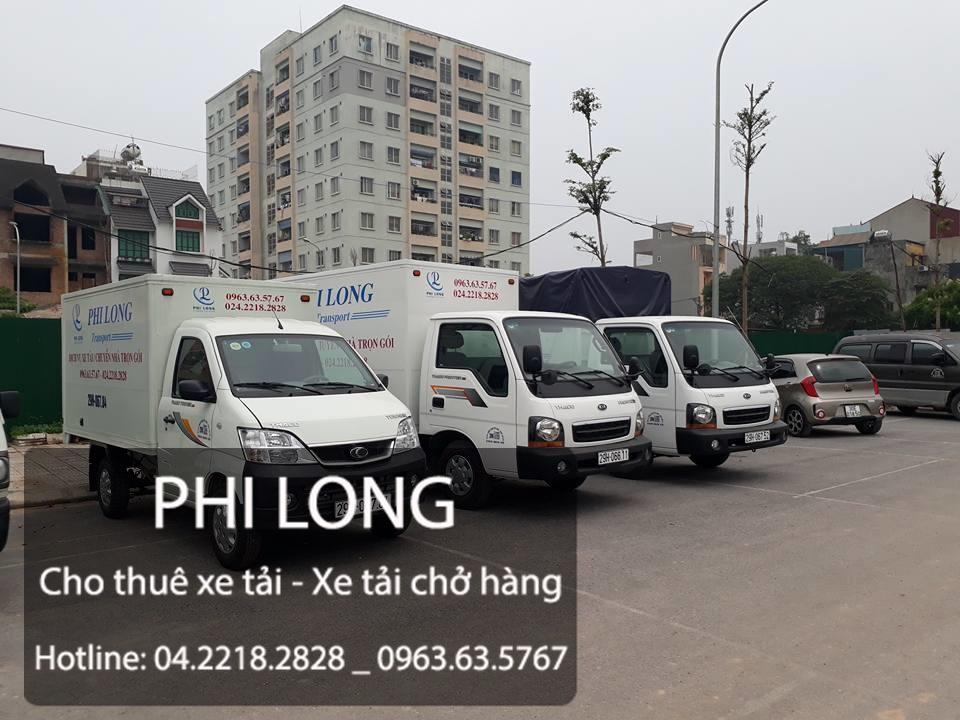 Xe tải chở hàng thuê Phi Long tại đường Vũ Lăng