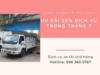 Xe tải chở hàng thuê Phi Long tại xã Thắng Lợi