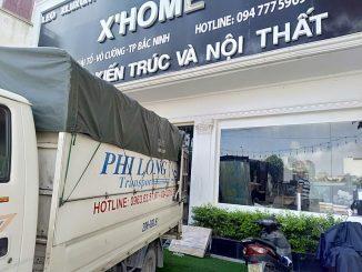 Xe tải chở hàng thuê Phi Long tại xã Nam Triều