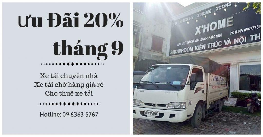 Xe tải chở hàng thuê Phi Long tại xã Liên Hòa