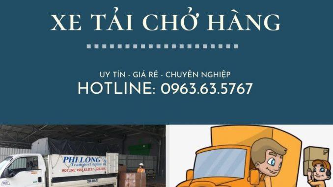 Xe tải vận chuyển Phi Long tại xã Quang Lãng