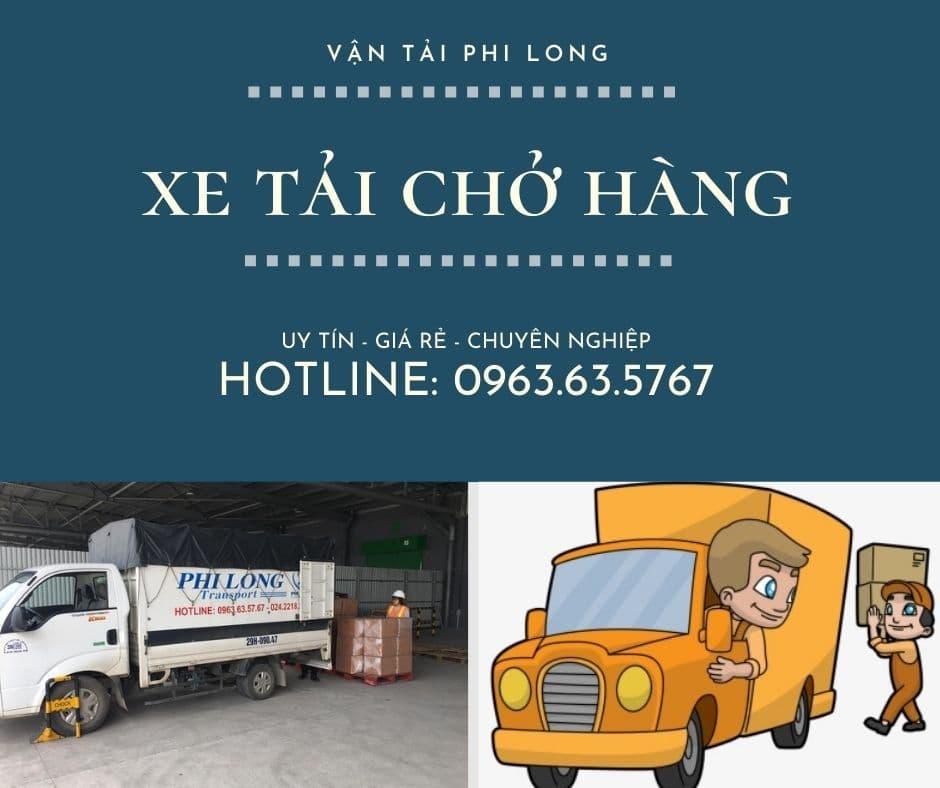 Xe tải chở hàng thuê Phi Long tại xã Phú Yên