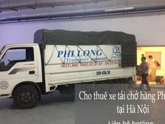 Xe tải chở hàng thuê Phi Long tại xã Canh nậu