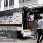 Xe tải chở hàng thuê Phi Long tại đường chu huy mân