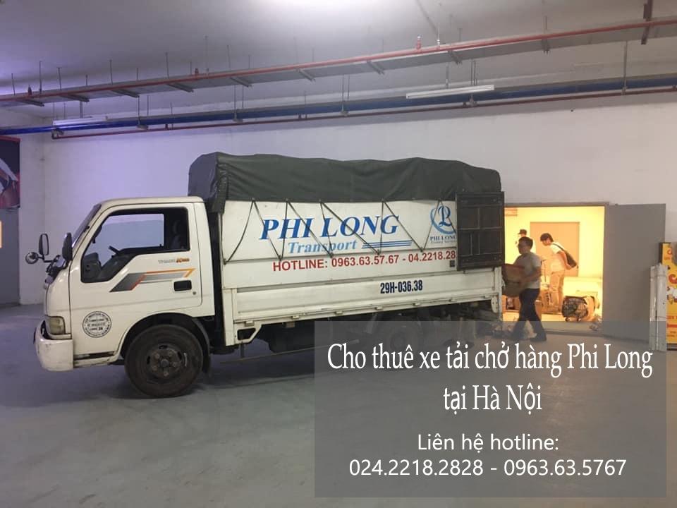 Xe tải chở hàng thuê Phi Long tại đường hội xá
