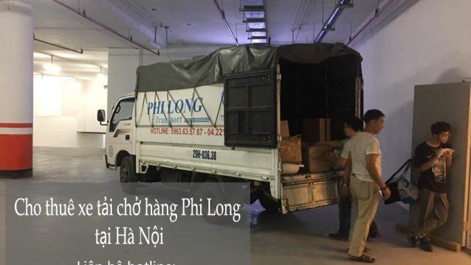 Xe tải chở hàng Phi Long tại đường Việt Hưng